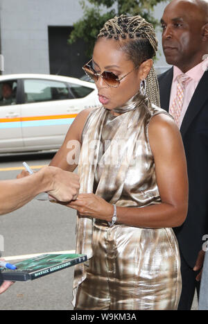 New York, NY, USA. 14th Aug, 2019. Jada Pinkett Smith at CBS This Morning to talk about her new movie Angel has Fallen in New York. August 14, 2019 Credit: Rw/Media Punch/Alamy Live News - Stock Photo