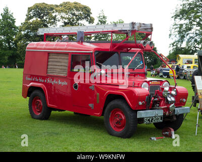 Isle of Scilly Fire Brigade Austin Gipsy Firepump - Stock Photo
