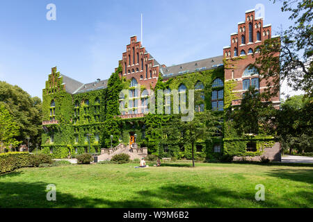 Lund Sweden - Lund University Library building, Lund, Sweden, Scandinavia, Europe, one of the oldest Swedish universities. - Stock Photo