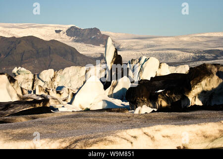 Jokulsarlon Glacial Lagoon, Breidamerkurjokull glacier, Vatnajokull. Iceland. - Stock Photo