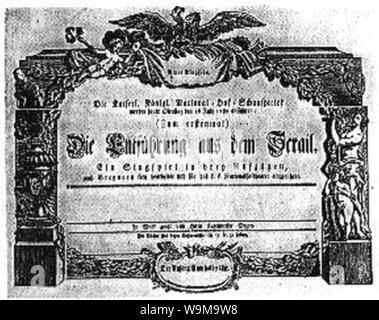 Die Entführung aus dem Serail livret. - Stock Photo