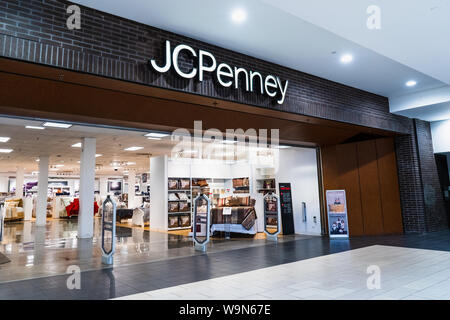 August 14, 2019 San Jose / CA / USA - JCPenney department store located in a mall in South San Francisco bay area - Stock Photo
