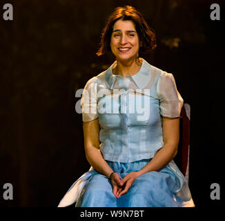 Edinburgh, Scotland, UK, 14 August 2019, Edinburgh International Festival. Komishe Oper Berlin and Artistic Director, Barrie Kosky, perform Tchaikovsky's opera based on Alexander Pushkin's novel depicting a romantic tragedy. Asmik Grigorian plays Tatyana, conducted by Ainars Rubikis - Stock Photo