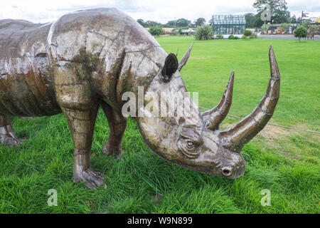 British Ironworks Centre and Shropshire Sculpture Park,off A5 road,Morda,Oswestry,Shropshire,England,Wales,Welsh,border,UK,GB,English,British, - Stock Photo