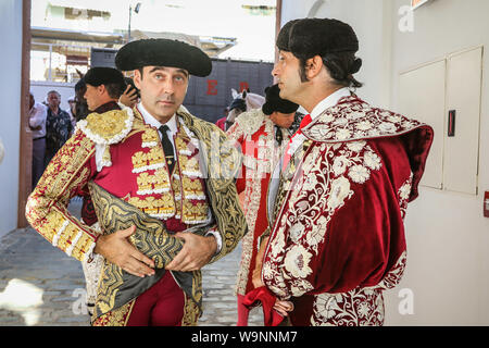 August 14, 2019: 14 augut 2019 (Malaga)Inaugural bullfight of the 145th anniversary of the bullring of La Malagueta,(Malaga) In the photo the torero Enrique Ponce. Credit: Lorenzo Carnero/ZUMA Wire/Alamy Live News - Stock Photo