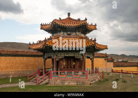 The Manchu-inspired Amarbayasgalant Khiid, an 18th-century Buddhist monastery in the remote Orkhon Valley, Selenge aimag, northern Mongolia - Stock Photo