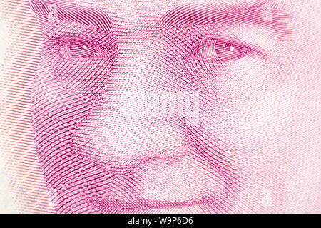 Close up of turkish banknote - Stock Photo