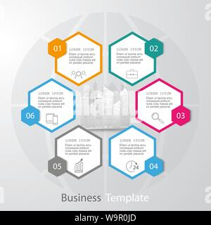 vector abstract paper infographic elements.Hexagon infographics. - Stock Photo