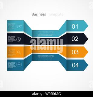 Arrow infographic template. options banner - Stock Photo