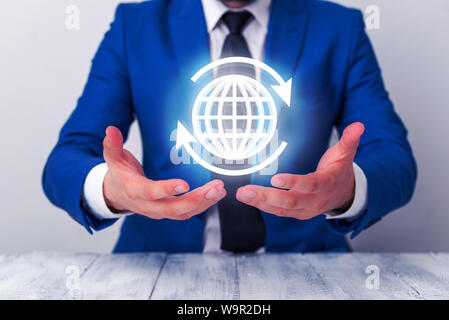 Neural network concept. Connected cells with links. High technology process. Abstract background. Social connections in the modern western eastern wor - Stock Photo