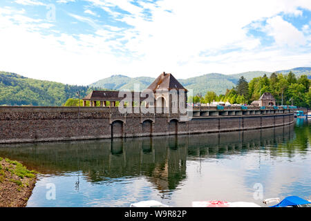 Eder dam, high water level, Waldeck, Hesse, Germany, Europe - Stock Photo