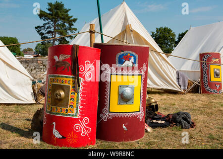 romans festival, roman fort Abusina, shields, Eining, Bad Goggingen, Neustadt an der Donau, Bavaria, Germany