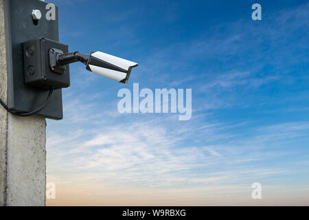 CCTV cameras on the cone of the house - Stock Photo