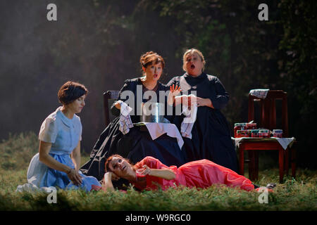 Edinburgh, UK. August 14 2019; Komische Oper Berlin at the Festival Theatre for the Edinburgh, UK. International Festival. The opera contrast the austerities of country life with the excesses and opulence of the Russian imperial court. Credit: Steven Scott Taylor/Alamy Live News - Stock Photo