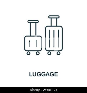 Luggage outline icon. Thin line concept element from tourism icons collection. Creative Luggage icon for mobile apps and web usage - Stock Photo