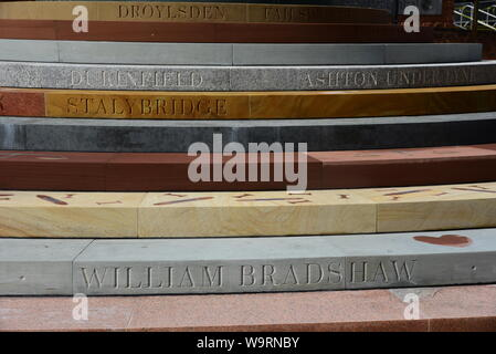 Peterloo memorial in Manchester - Stock Photo