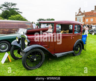 1931 Austin Seven Delux Saloon at The Helmingham Festival of Classic & Sports Cars 2019 - Stock Photo