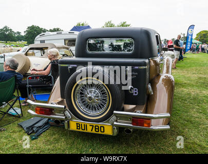 DeVille Panther saloon at The Helmingham Festival of Classic & Sports Cars 2019 - Stock Photo