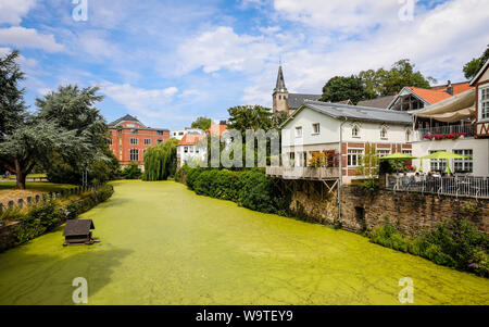 Essen, Ruhr area, North Rhine-Westphalia, Germany - Kettwig, the former independent weaver town has been a district of Essen since 1975, the old town - Stock Photo