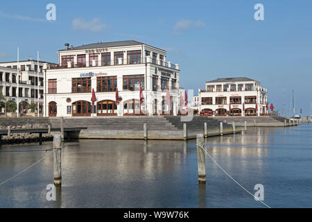 Hohe Düne Marina, Warnemünde, Rostock, Mecklenburg-West Pomerania, Germany - Stock Photo