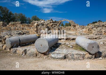 Saranta Kolones (Forty columns castle) inside the Paphos Archaeological Park, Cyprus