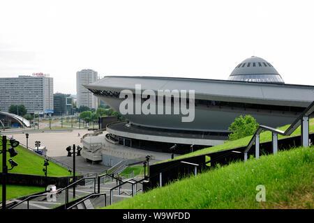 Katowice, Silesia, Slask, city,Sport arena in Katowice called Spodek, Silesia, Poland - Stock Photo