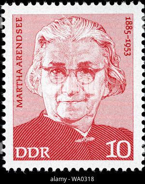 Martha Arendsee (1885-1953), postage stamp, Germany, 1975