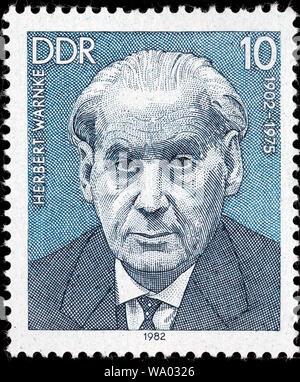 Herbert Warnke (1902-1975), postage stamp, Germany, 1982