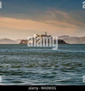 The Alcatraz Island in San Francisco bay. San Francisco, California, United States of America