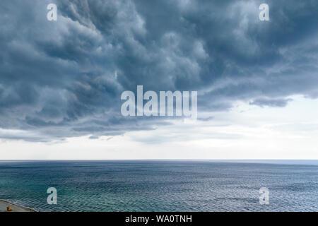 Miami Beach Florida Atlantic Ocean clouds weather sky storm clouds gathering rain rainclouds