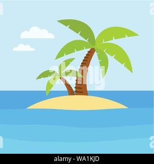 Summer time design. Vacation icon and beach concept. Vector illustration - Stock Photo