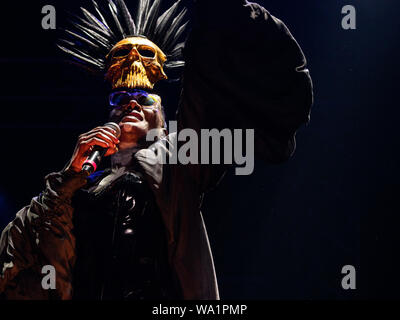Alges, PORTUGAL: Grace Jones performing live on the 2nd day of Festival NOS Alive in Alges, Friday, Jul. 12, 2019. Featuring: Grace Jones Where: Lisboa, Portugal When: 12 Jul 2019 Credit: Rui M Leal/WENN.com - Stock Photo