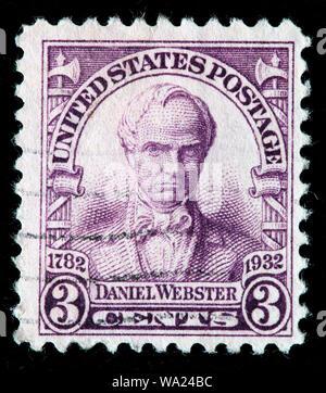 Daniel Webster (1782-1852), United States Senator, postage stamp, USA, 1932 - Stock Photo