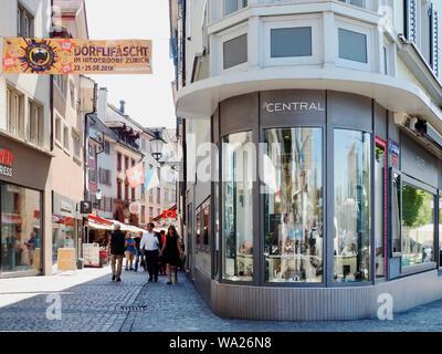 Quartier-Fest Niederdorf Zürich August 2019 - Stock Photo