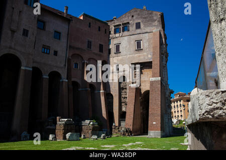 Theatre of Marcellus an ancient open-air theatre in Rome built in 13 BC - Stock Photo