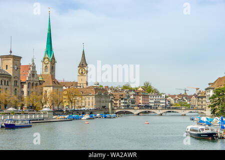 Zuerich City on the River - Stock Photo