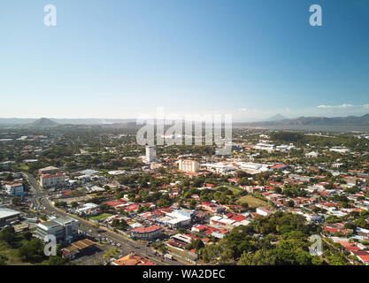 Managua capital of Nicaragua country  aerial drone view - Stock Photo