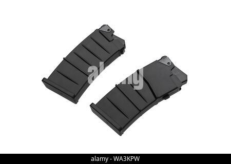 Assault shotgun rifle magazine isolated on white background - Stock Photo