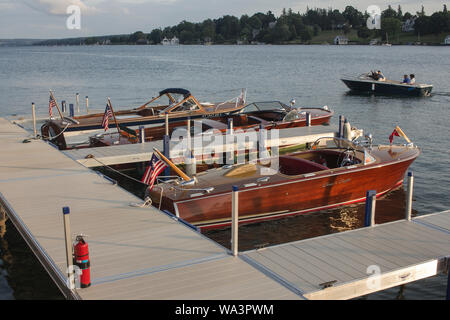Skaneateles Antique & Classic Boat Show - Stock Photo