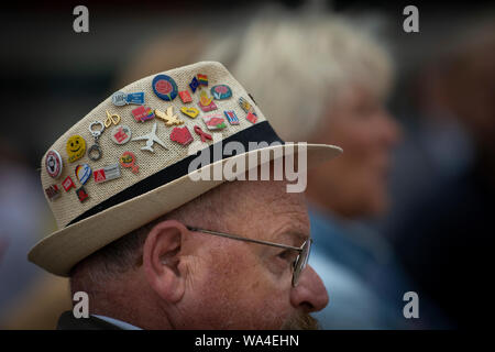 A hat of protest at the Berlin Gegen Nazi's demonstration at Alexanderplatz, Berlin, Germany. - Stock Photo
