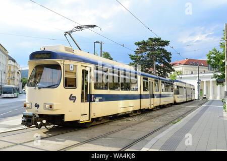 "Baden near Vienna, Lower Austria, Austria. ""Baden bei Wien"", is a town in Lower Austria, Austria, 26 km south of Vienna on the Thermal line. It is the - Stock Photo"