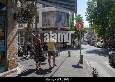 neighborhood of Florentin in southern Tel Aviv. - Stock Photo