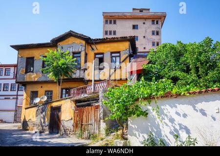 Traditional Turkish house in Hamamonu district of Altindag, Ankara, Turkey. - Stock Photo