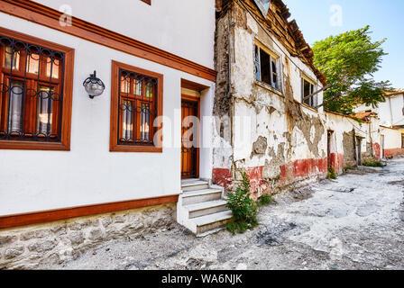 Traditional Turkish houses in Hamamonu district of Altindag, Ankara, Turkey. - Stock Photo