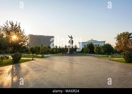 Amir Tamur Square in Tashkent - Stock Photo