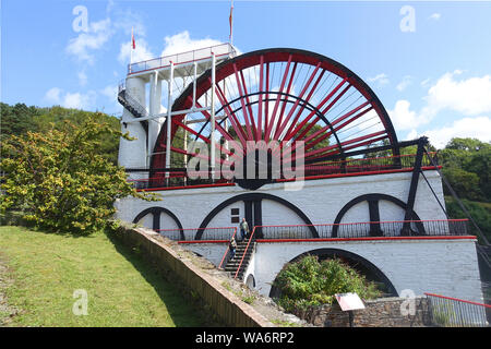 The Great Lady Isabella Water Wheel at Laxey, Isle of Man, is the largest working waterwheel in the world. - Stock Photo