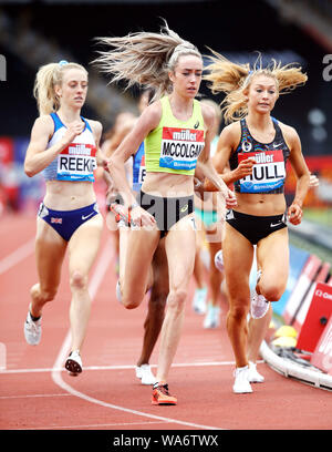 Great Britain's Eilish McColgan in the Women's One Mile during the Muller Grand Prix Birmingham at The Alexander Stadium, Birmingham. - Stock Photo