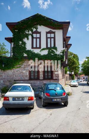 Historical Ankara house Hacettepe evi in Hamamonu district of Altindag, Ankara, Turkey. - Stock Photo