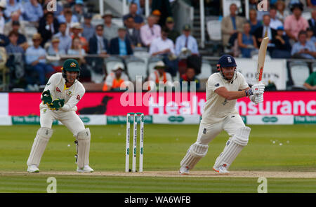 London, UK. 18 August 2019. Jonny Bairstow of England during play on the 5th day of the second Ashes cricket Test match between England and Australia at Lord's Cricket ground in London, England on August 18, 2019 Credit: Action Foto Sport/Alamy Live News - Stock Photo