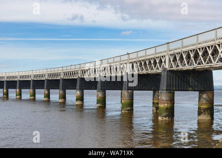Tay Rail Bridge Dundee Tayside Scotland - Stock Photo
